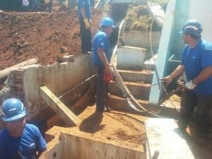 funcionários da Sanepar que trabalharam dia e noite