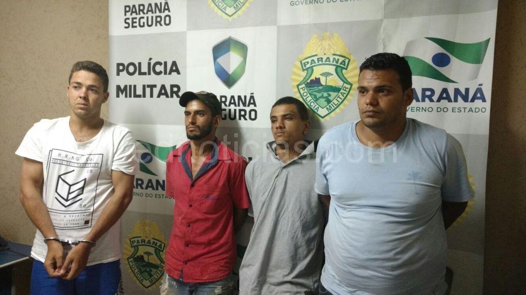 Paulo, Diego, Edinho e Hugo.
