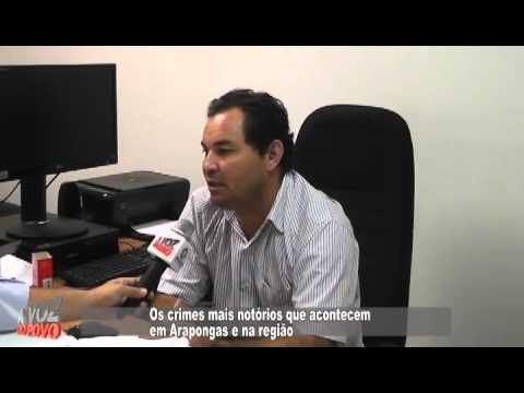 Entrevista com Delegado Paulo sobre criminalidade em Arapongas